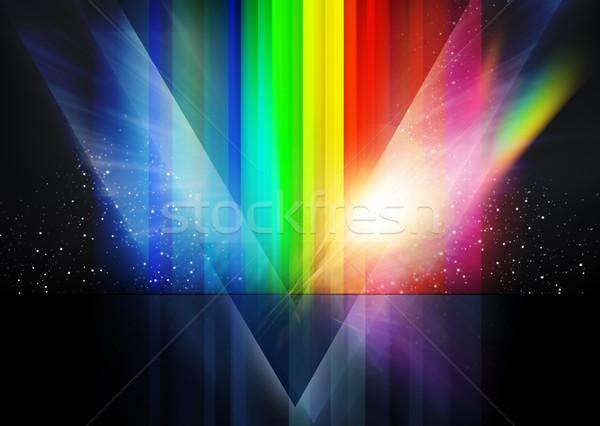 Rétro cosmique élevé résolution technologie vague Photo stock © solarseven