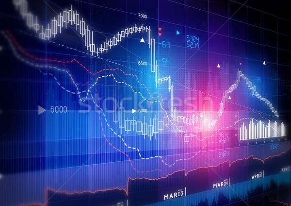 Stock Market Graph Stock photo © solarseven