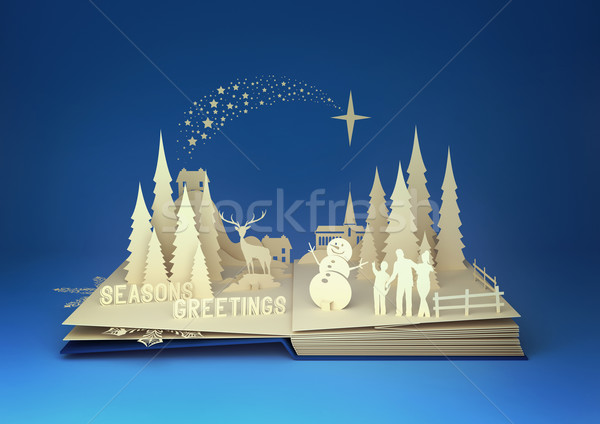 Pop-Up Book - Christmas Story Stock photo © solarseven