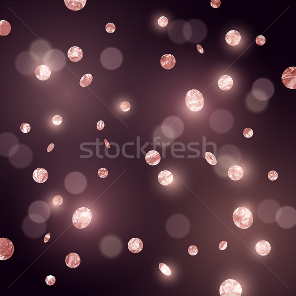 Large Rose Gold glitter Confetti Stock photo © solarseven