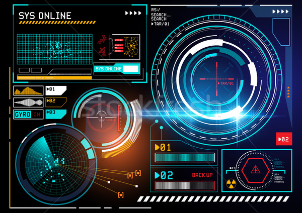 futuristic HUD display Stock photo © solarseven