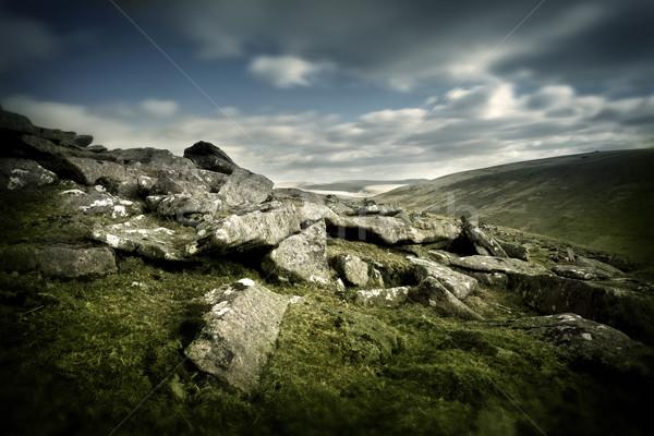Foto stock: Paisagem · rochas · fundo · montanha