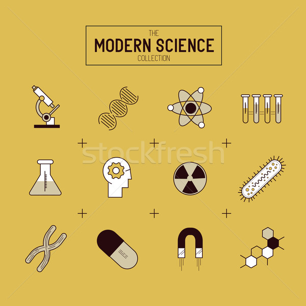 Science Vector Icon Set Stock photo © solarseven