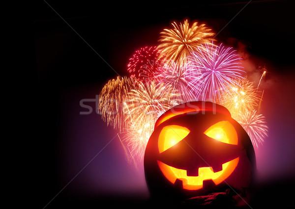 Stock photo: Halloween Fireworks Party