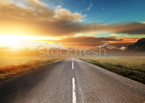 Scenic Route Through the Mountains Stock photo © solarseven