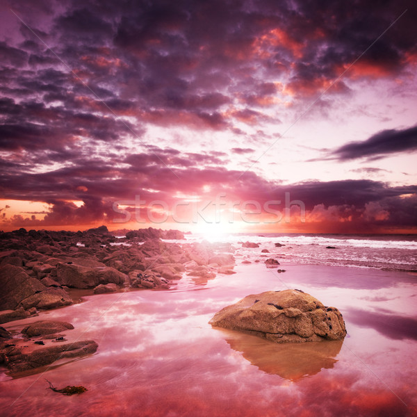 Stock photo: Coastal Sunset