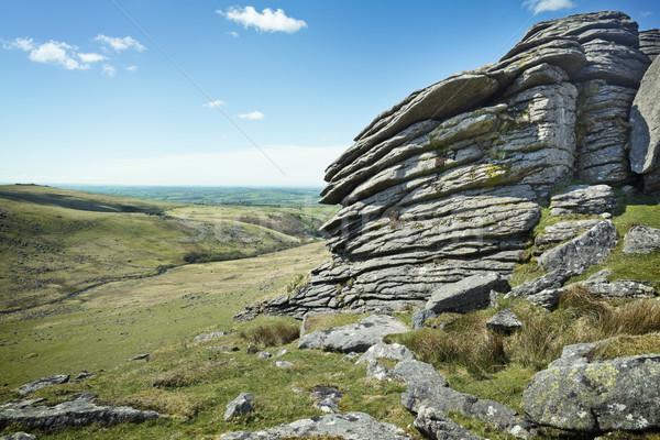 Vad brit tájkép egyenetlen terep háttér Stock fotó © solarseven