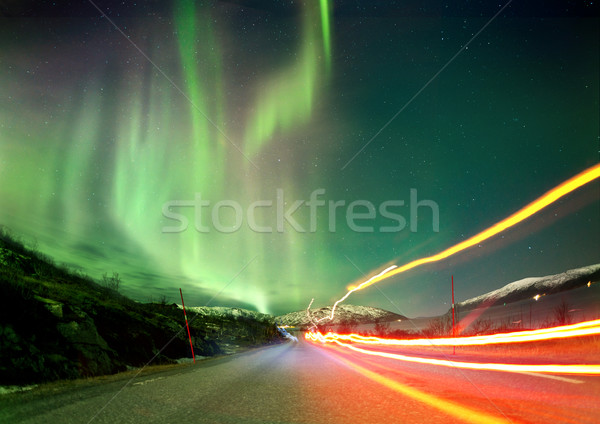 Northern Light Trails Stock photo © solarseven