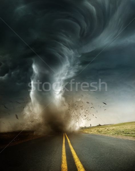 A Powerful And Destructive Tornado Stock photo © solarseven