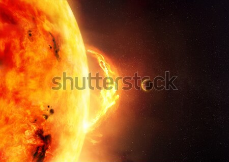 Nap nap fellobbanás illusztráció bolygó ad Stock fotó © solarseven