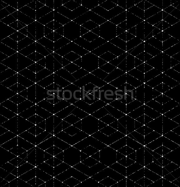 Scratchy Hexagon Seamless Pattern Stock photo © solarseven