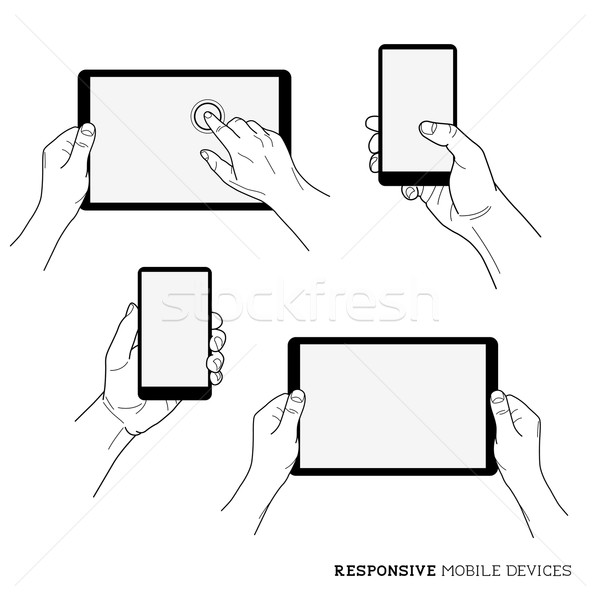Responsive Mobile Devices Stock photo © solarseven