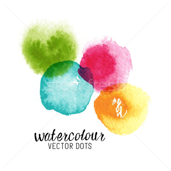 Watercolour Vector Dots Stock photo © solarseven