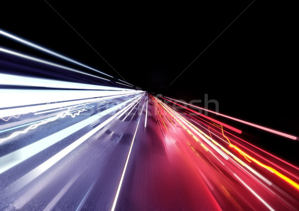 Traffic Car Light Trails Stock photo © solarseven