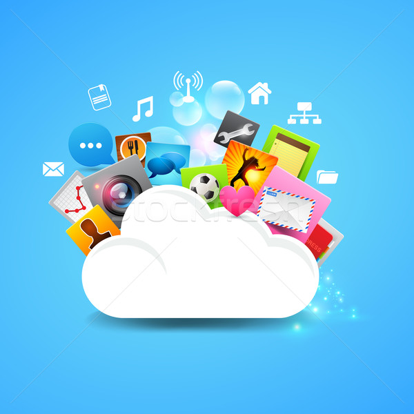 Cloud Storage Vector Stock photo © solarseven