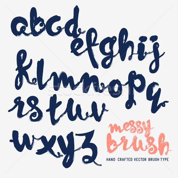 Messy Brush Lettering Vector Stock photo © solarseven