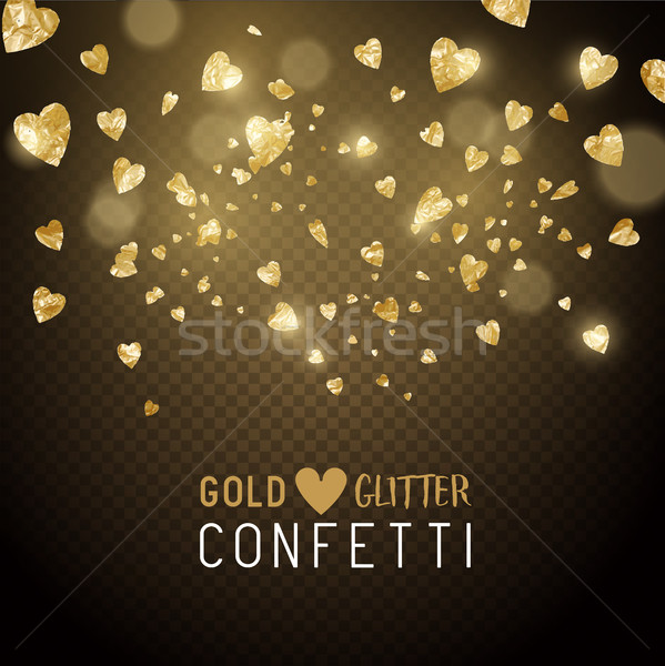 Heart Shaped Glitter Confetti Stock photo © solarseven