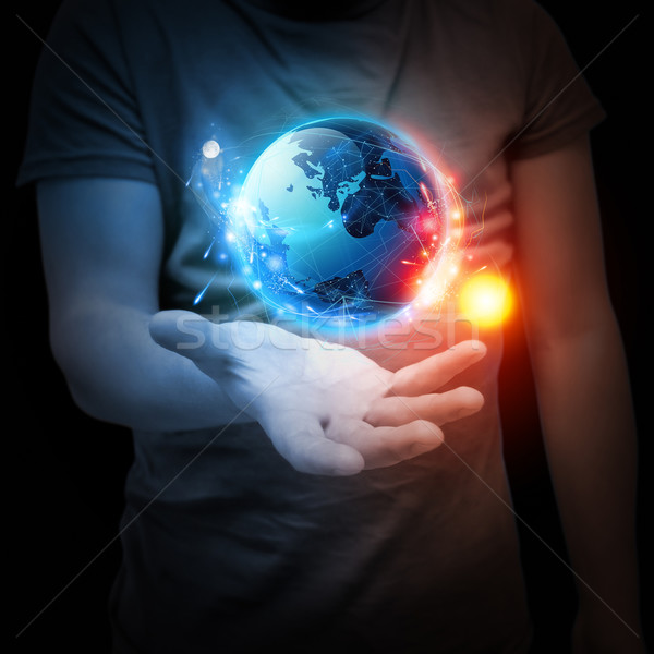 Planet System in Your Hand Stock photo © solarseven