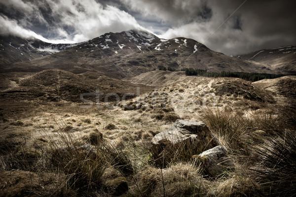 Schotse hooglanden landschap berg achtergrond mooie Stockfoto © solarseven