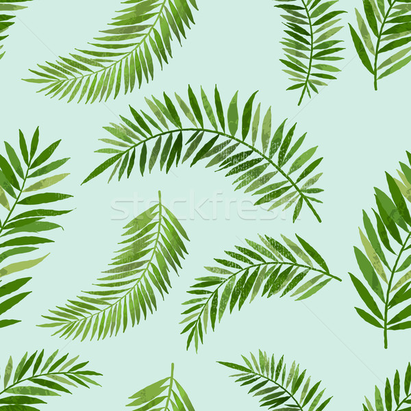 Vintage Seamless Palm Leaf Pattern Stock photo © solarseven