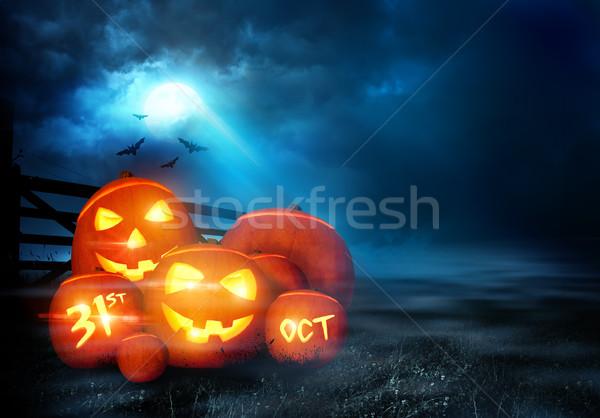 Halloween Evening Background Stock photo © solarseven