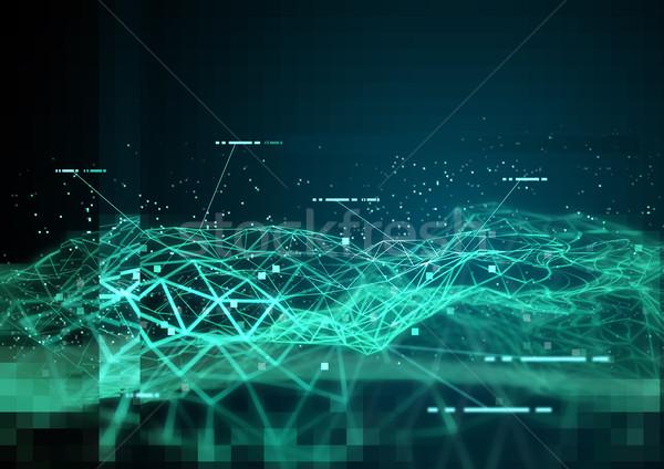 Zdjęcia stock: Globalny · danych · 3D · informacji · 3d · ilustracji · działalności