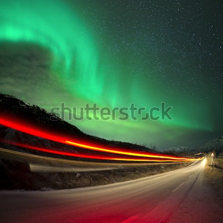 Northern Lights and trails Stock photo © solarseven