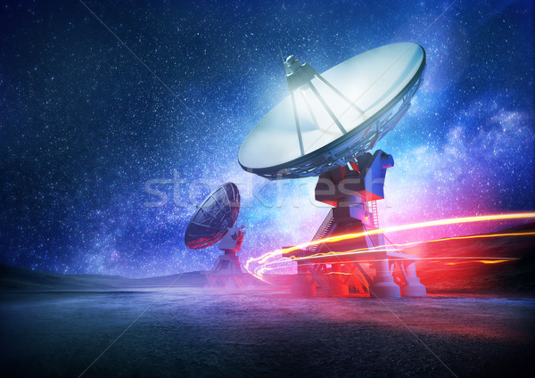 Stock photo: Deep Space Radio Telescope