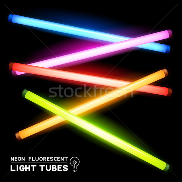 Neon Fluorescent Light Tubes Stock photo © solarseven