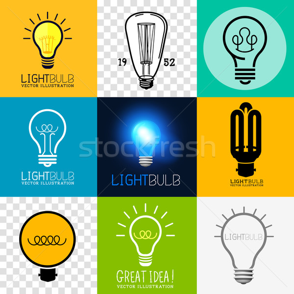 Vector Lightbulb Collection Stock photo © solarseven