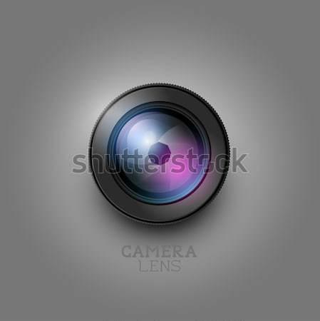 Vector lente de la cámara creativa fotografía lente elemento Foto stock © solarseven
