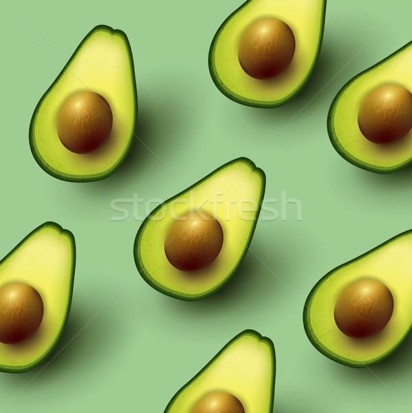 Healthy Sliced Avocado Background Stock photo © solarseven