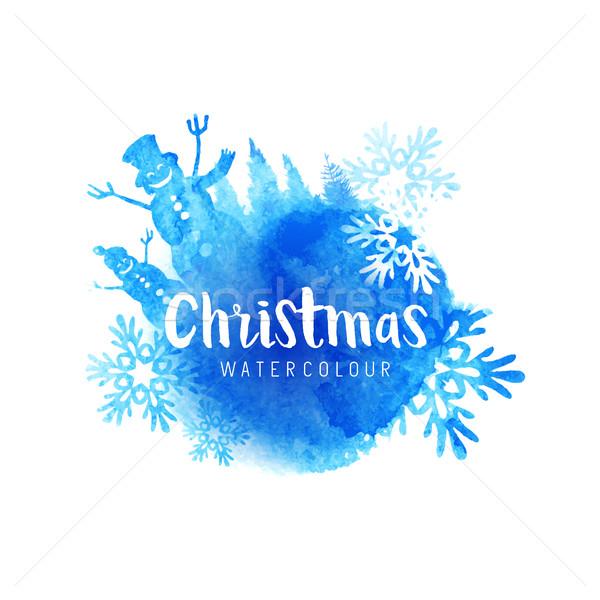 Festive Christmas Vector Abstract Stock photo © solarseven