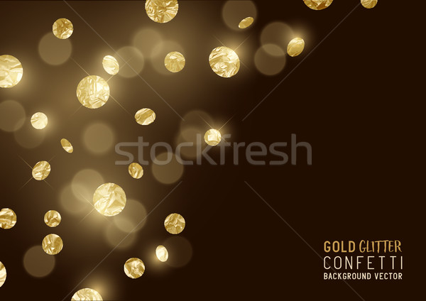Large Gold glitter Confetti  Stock photo © solarseven
