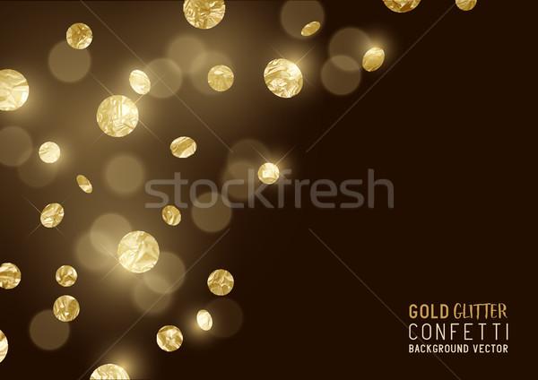 Nagy arany csillámlás konfetti luxus terv Stock fotó © solarseven