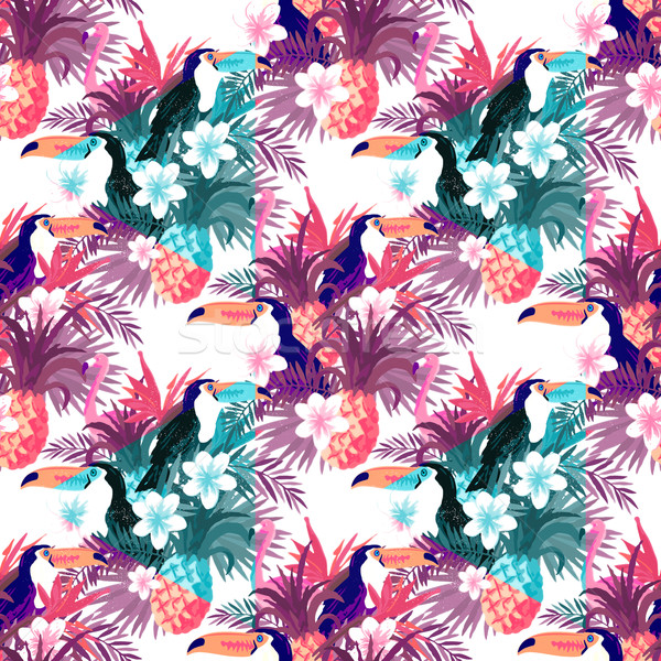 Tropical Abstract Background Vector Stock photo © solarseven