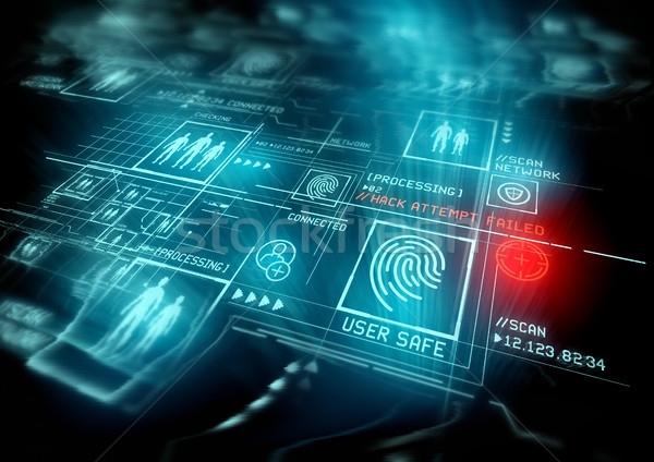 Digital segurança proteção ilustração Foto stock © solarseven