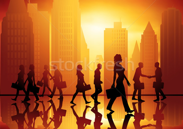 Walking Business People Stock photo © solarseven
