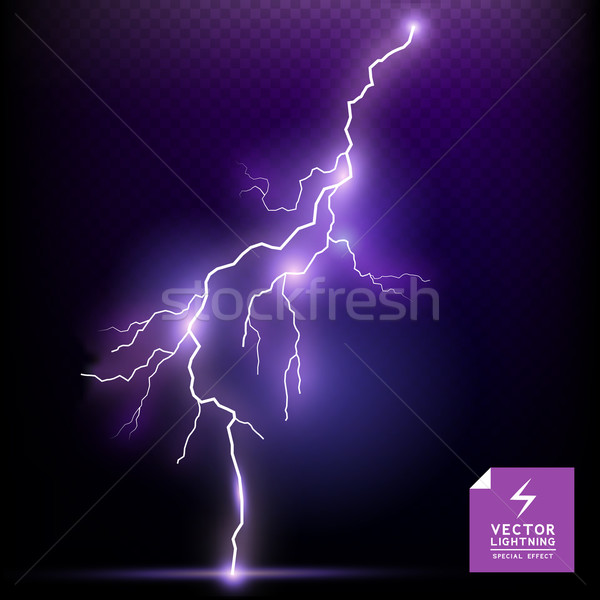 Vector Lightning special effect Stock photo © solarseven
