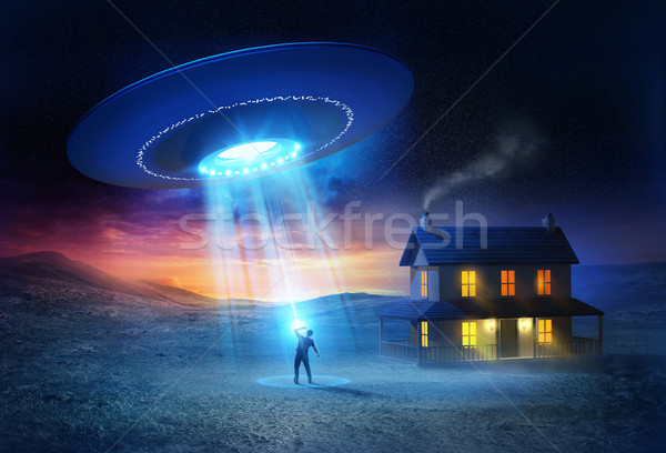 UFO Abduction Stock photo © solarseven