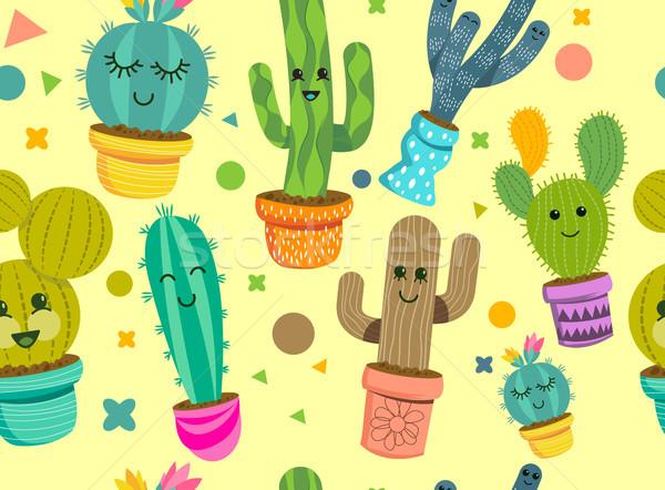 Foto stock: Alegre · cacto · plantas · planta