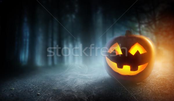 霧の ハロウィン カボチャ 神秘的な ストックフォト © solarseven