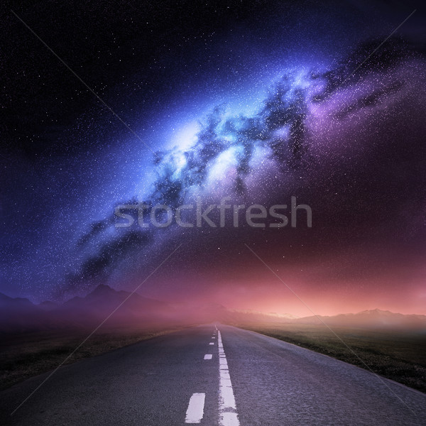 Milky Way Galaxy From Earth Stock photo © solarseven