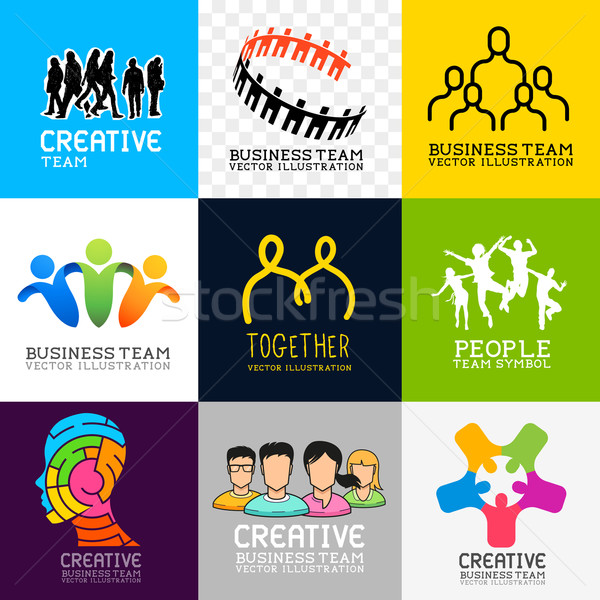 Vector People Collection Stock photo © solarseven