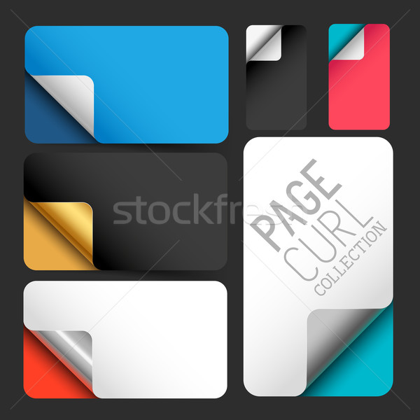 Vector Page Curls Stock photo © solarseven