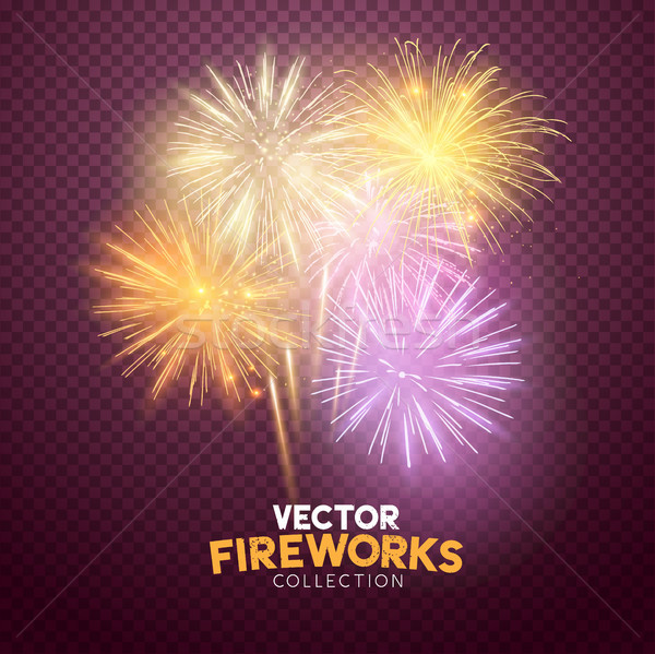 Vector Isolated Fireworks Stock photo © solarseven