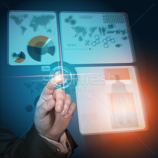 Modern iş gelecek teknoloji el arka plan Stok fotoğraf © solarseven