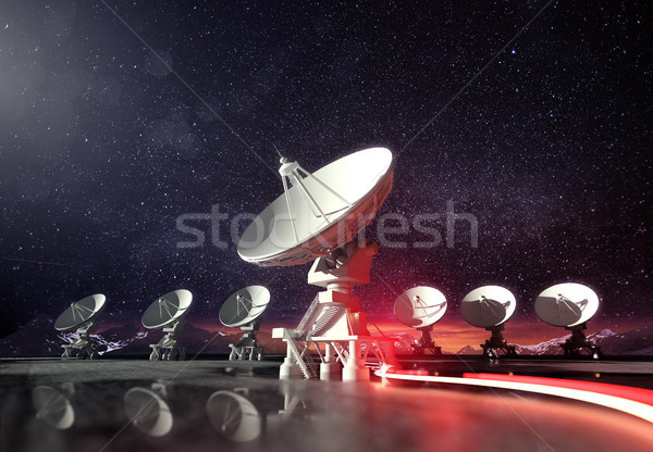 Astronomie radio pointant nuit groupe Photo stock © solarseven