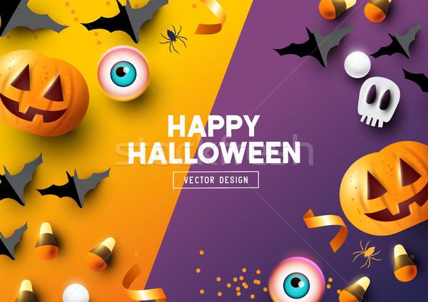 Stock photo: Happy Halloween Frame Background