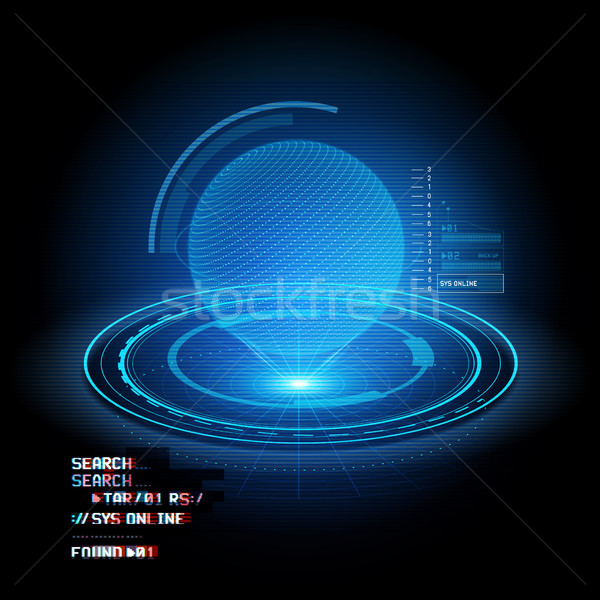Hologram Globe Projection Stock photo © solarseven
